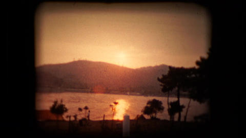 A beautiful coastal sunset in either the french riviera or italian amalfi coa Footage