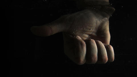Hand under water shows ok sign Footage