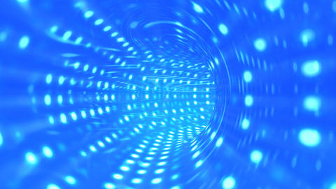 Tunnel blue Animation