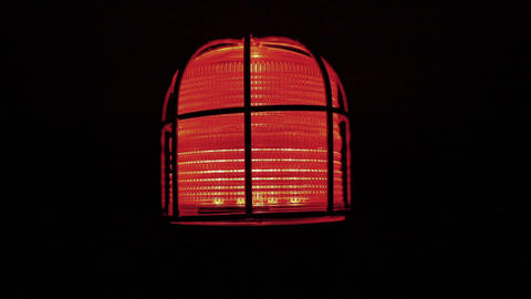 Red Alarm Lamp - Looped Footage