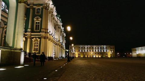 walk around the city at night Footage