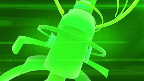 SHA Abstract Cylinder Obj Green Animation