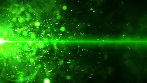 SHA Flame Spark ImageEffects Green Animation