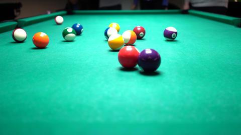 Pool Billiards Table And Balls Footage
