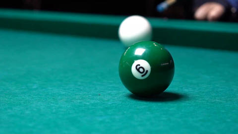 Billiard Ball Shot Solid Footage