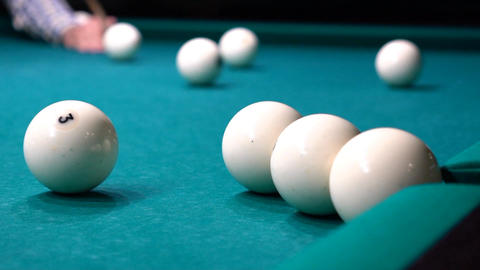 Russian Billiards, Ball Gets In The Pocket Footage
