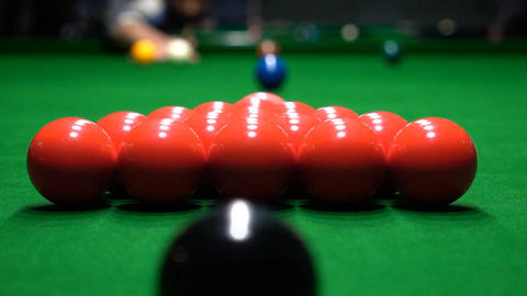 Breaking The Balls At A Snooker Game Slow Motion Footage