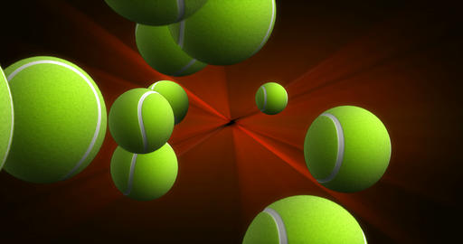 Spawn of Tennis Balls Background Animation