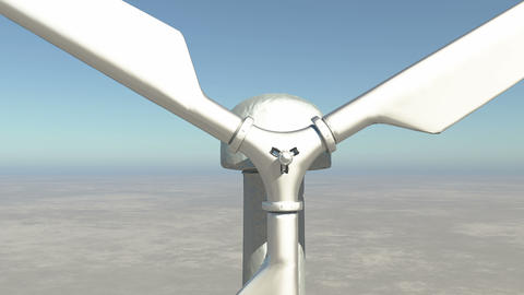 4k closeup of Windmill Turbines Clean,Green Wind Energy,new power Live Action