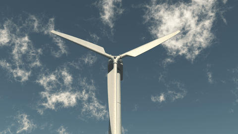 4k closeup of Windmill Turbines Clean,Green Wind Energy,new power,white cloud Live Action