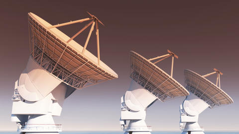 4k Satelite Dishes,Large Radio Observatories-TimeLapse,Radar,outer Space Footage