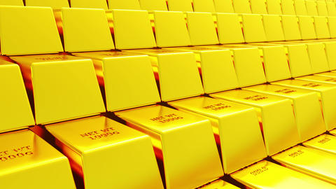 4k Gold bullion gold bars treasury wealth Ingot luxury finance goods trading Live Action