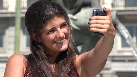 Pretty Woman Taking Selfy Live Action
