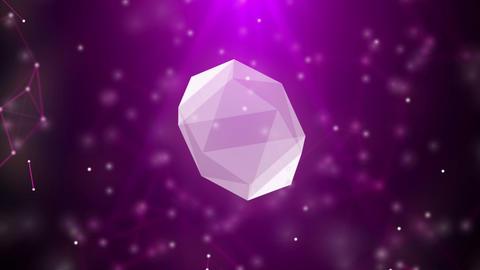 Spinning diamond concept Footage