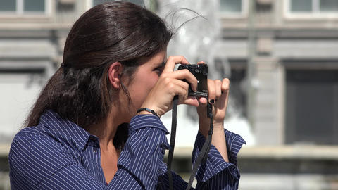 Woman Taking A Photo Footage