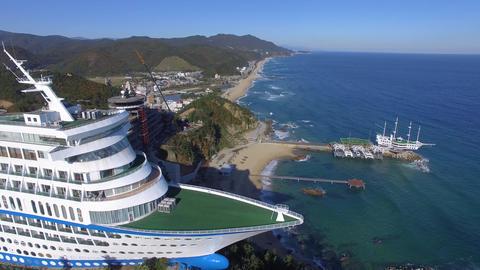 beach, the seaside, the seashore ,cruise cafe,cruise hotel Footage