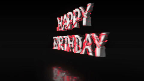 Luminescent red 'HAPPY BIRTHDAY' [Loop] Animation