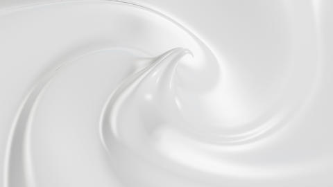 Beautiful Cream in Looped 3d Animation. Close-up Seamless 4k Stock Video Footage