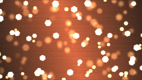 Colorful Hexagon Motion Particle Background Animation - Loop Orange Animation