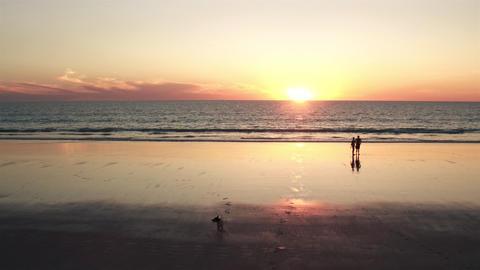 Australia WA Broome CableBeach Sunset Footage
