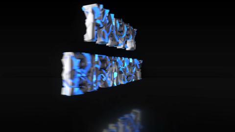 Luminescent Blue 'HAPPY BIRTHDAY' [Loop] Animation