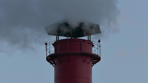 4K Chimney Smoke / Smoke Stack / Air Pollution Footage