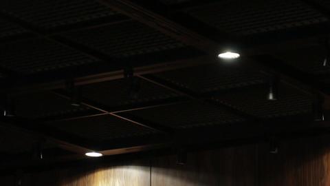 High Tech Design Skylight Pan Movement Footage