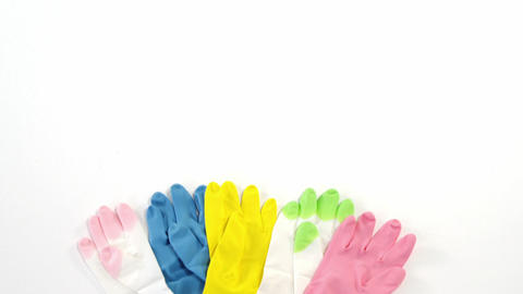 Close-up of multicolor gloves Live Action