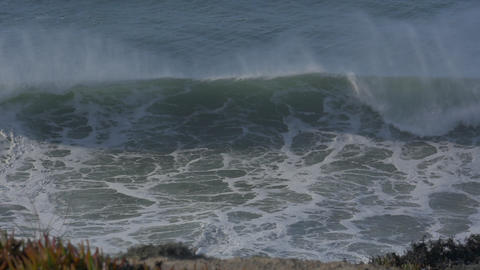 4x Real Slow Motion - Huge Waves At Portuguese Coasts - 100fps Footage