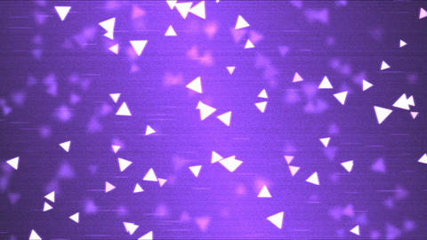 Colorful Triangle Motion Particle Background Animation - Loop Purple Animation