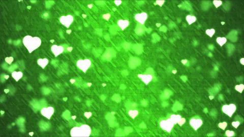 Heart Shape Background Animation - Loop Green Animation