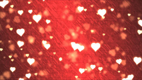 Heart Shape Background Animation - Loop Red Animation