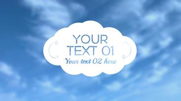 Cloud Title - Apple Motion and Final Cut Pro X Template Apple Motion Template