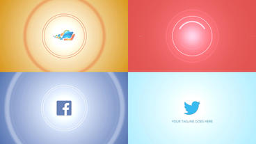 Modern Circle Logo - Apple Motion and Final Cut Pro X Template Plantilla de Apple Motion