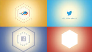 Modern Hexagon Logo - Apple Motion and Final Cut Pro X Template Plantilla de Apple Motion