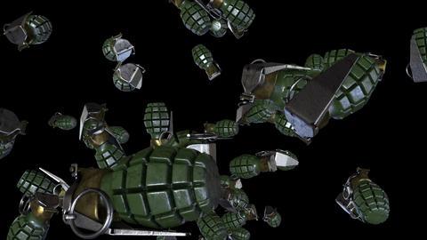 Falling Grenades Loop CG動画素材