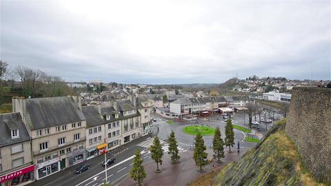 Saint-Lo, France, Video - Rond Point du 6 Juin Live Action
