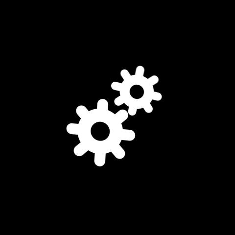 Gears Flat Icon Animation