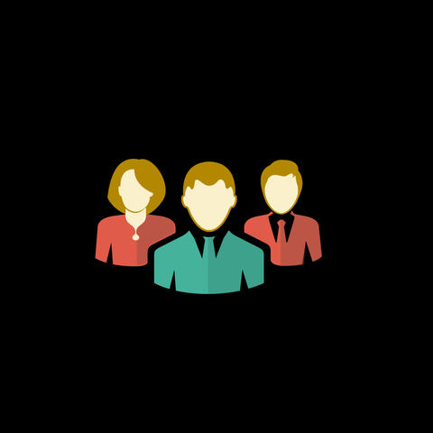 Group Of People Flat Icon Animation
