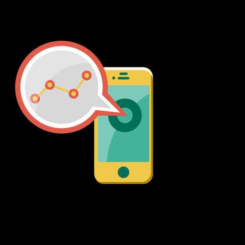 Phone Flat Icon Animation