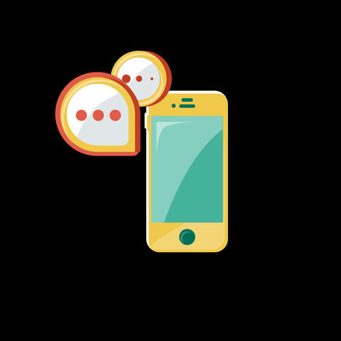 Phone SMS Flat Icon GIF