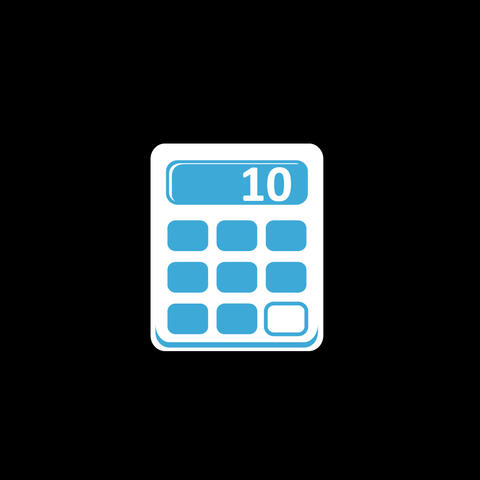Calculator Flat Icon Animation