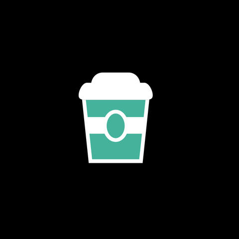 Coffee Flat Icon Animation