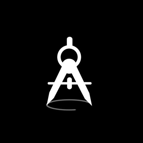 Compasses Flat Icon Stock Video Footage