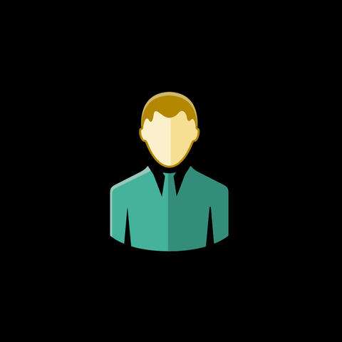 Man Flat Icon Animation