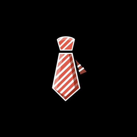 Tie Flat Icon Animation