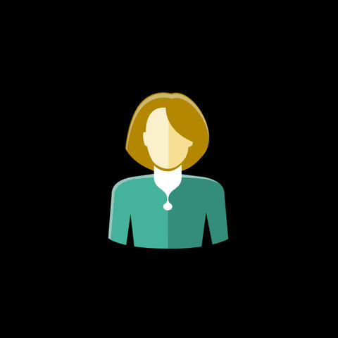Woman Flat Icon Animation