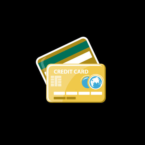Credit Card Flat Icon Animation