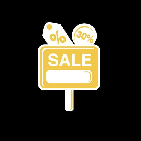 Sale Flat Icon Animation