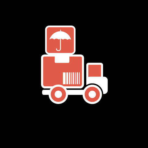 Delivery Flat Icon Animation